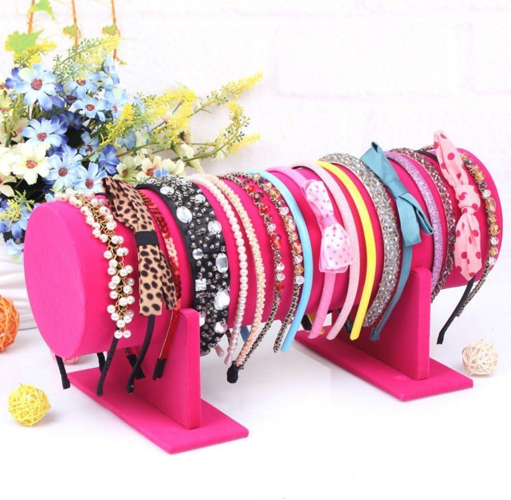 T Bar Velvet Hairband Headband Holder Retail Shop Display Stand Rack Hol~HH
