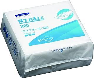 クレシア ワイプオール X60 4つ折り 50枚 薄手素材の4つ折り不織布ワイパー 水やアルコールに濡らしても破れにくい素材 60560