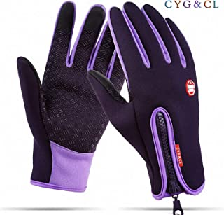 CYG&CL Outdoor Winter Touchscreen Gloves for iPhone iPad Anti-Slip Gloves for Running Hiking Climbing Skiing Driving Sports Adjustable Gloves for Men Women