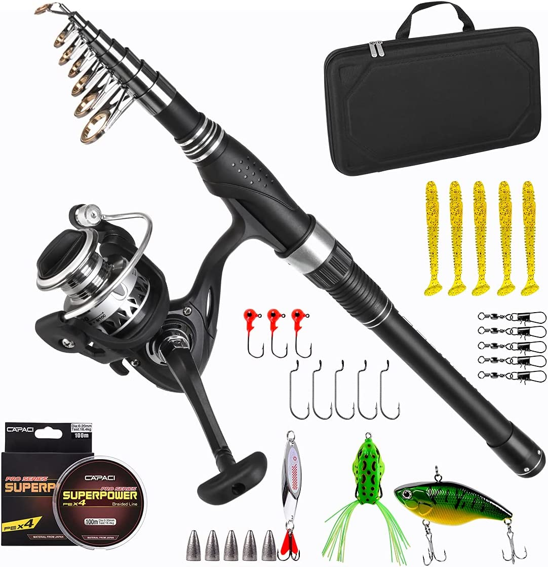 Low price CODEK Portable Spinning Rod and Telescopic Super beauty product restock quality top! Combos Reel Fishing R