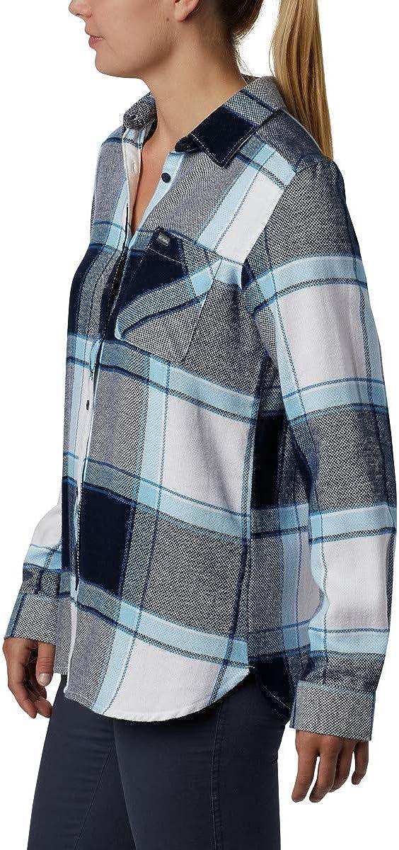 100/% Cotton Columbia Women/'s Simply Put II Flannel Shirt Long Sleeve