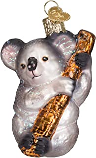 Old World Christmas Glass Blown Ornament with S-Hook and Gift Box, Zoo Animals Collection (Koala Bear)