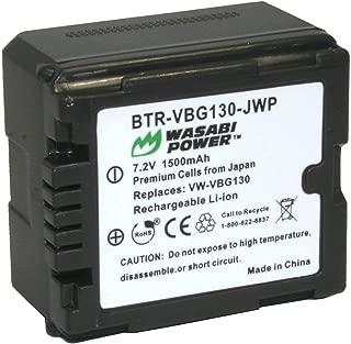 Wasabi Power Battery for Panasonic VW-VBG130 (1500mAh)