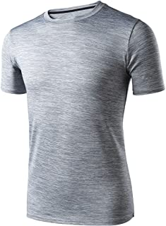 RoxZoom Men's Sports T-Shirts Cool Dry Short Sleeve Training Tee Shirt Breathable Athletic T-Shirt