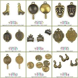 110 PCS Jewelry Making Charms Findings T0946 Roller Skates Jewellery Bronze Charme Supply Supplies Crafting Bracelet Wholesale Craft Alloys Lots Bulk Necklace Antique Retro DIY