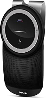SOAIY-S61 Bluetooth 4.1 Hands Free Car Kit with Auto On Off, Connects with Siri & Google Assistant, Wireless in Car Handsfree Speakerphone, 3W Powerful Speaker, Easy Install
