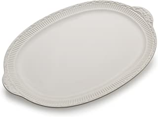 Mikasa Italian Countryside Handled Oval Serving Platter, 19.5-Inch