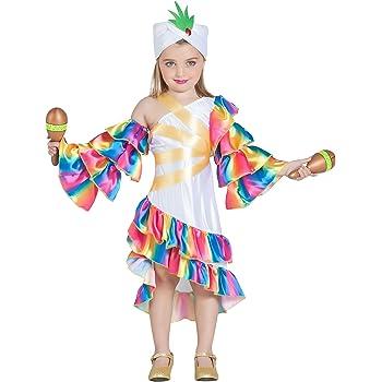 Disfraz Brasileña Colorful Niña (7-9 años) (+ Tallas) Carnaval ...