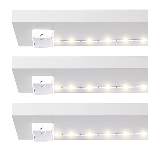 Led cupboard lighting Battery Luminoodle Click Battery Powered Tap Light Strip For Closet Pantry 3pack 36 Amazoncom Shelves Lighting Amazoncom