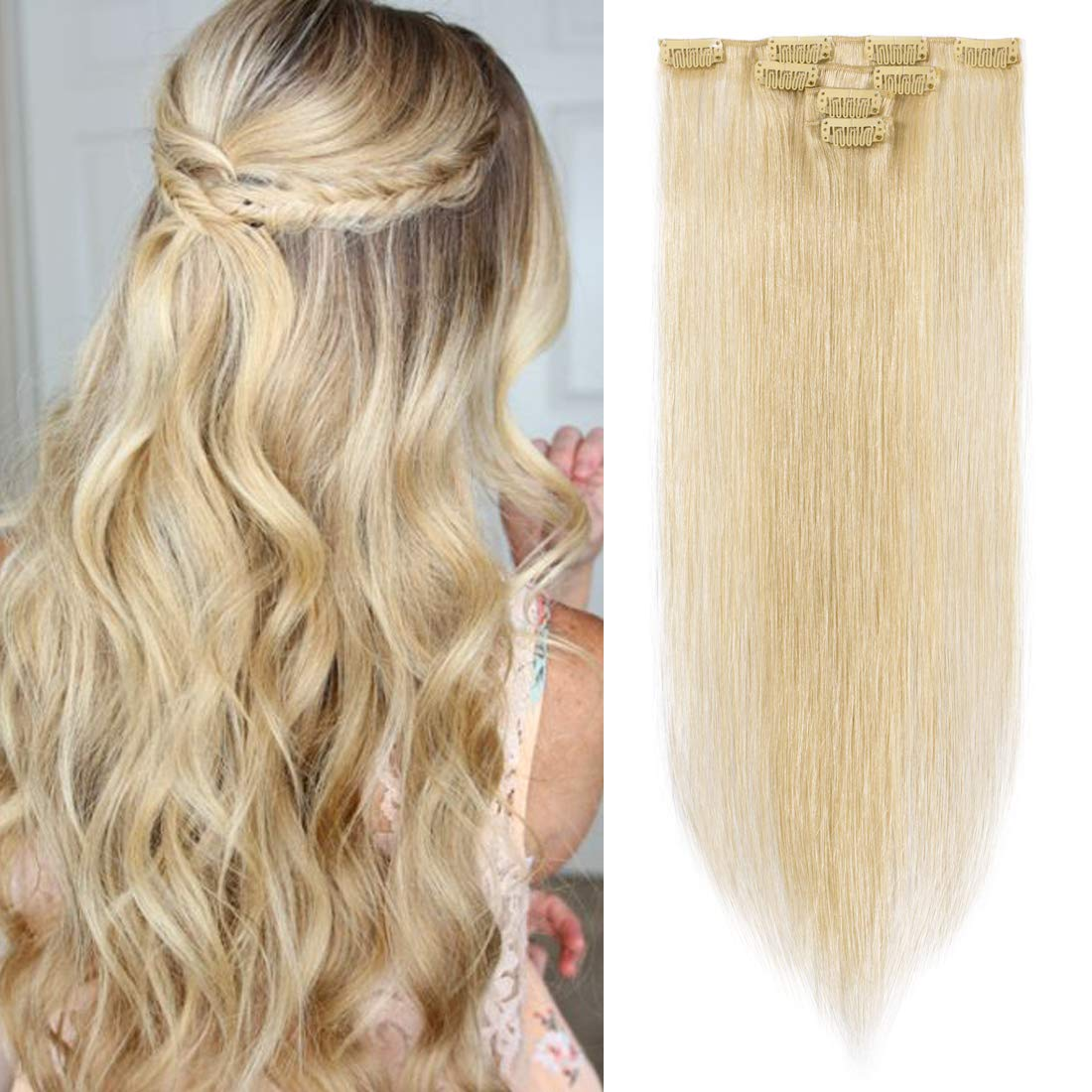 SEGO 4 Pcs Product 40g Clip Human Extens Extensions In Hair Lowest price challenge