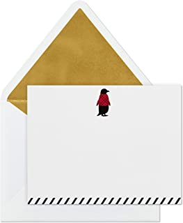 Hallmark Blank Cards, Festive Penguin (10 Cards with Envelopes)