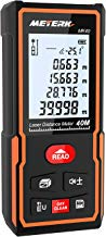 Telémetro láser portátil, Meterk 40m mini Medidor de distancia láser digital Guardar datos Pantalla retroiluminada LCD instrumento de medición electrónico láser de burbujas y rápida medición