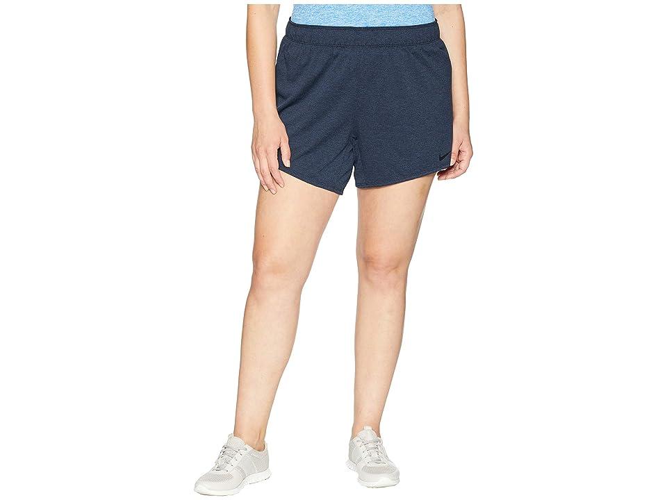 Nike Flex Attack TR5 Shorts (Size 1X-3X) (Obsidian/Heather/Black) Women