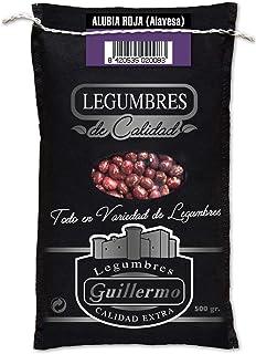 Guillermo Alubia Roja Alavesa Palmeña Redonda Gourmet Judía Calidad Extra Saco 500 g (LEGUGUI-2008)