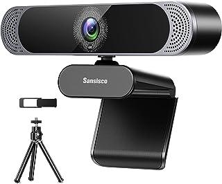 4K Webcam with Microphone, 2021 Sansisco 8MP HD Webcam...
