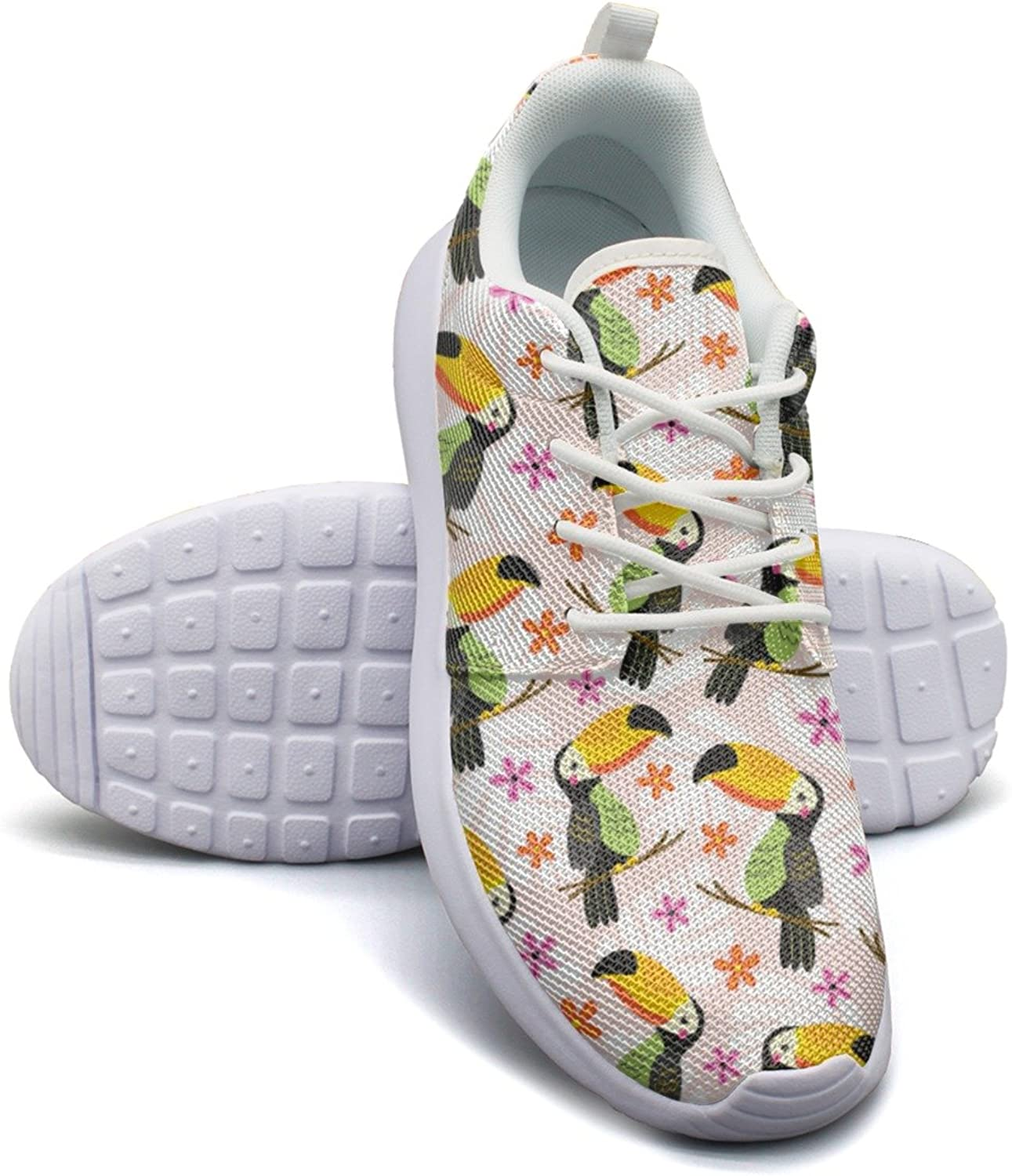 Pet Toucan with Flowers Women's Lightweight Mesh Running Sneakers Exclusive Gym shoes