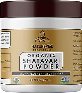 Organic Shatavari Powder (8oz) - Asparagus Racemosus - USDA Certified Organic | Rejuvenative for Vata and Pitta | Promotes Vitality and Strength | Ayurvedic Herbal Supplement…