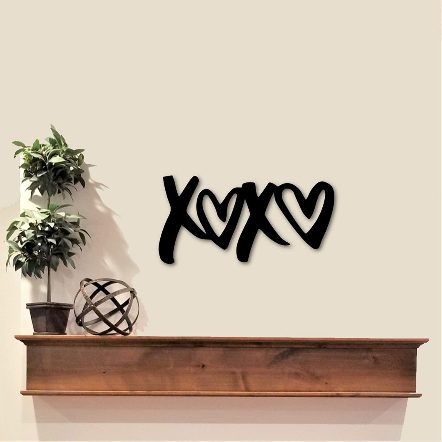 Love Bombing new Popular products work Decor XOXO Sign Hugs and Kisses Art Wall Valentine's Metal