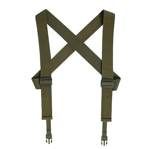 "2/"" TAN Duty Belt Police Tactical Law Enforcement Gun Suspenders BMP 911 Gear"