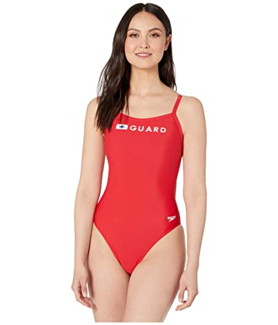 Speedo Guard Flyback One-Piece (US Red) Women