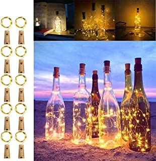 Koopower Battery Operated Cork Lights 6.56ft 20 LED Fairy Lights Waterproof for Party, DIY, Wedding Centerpiece (Warm Whit...