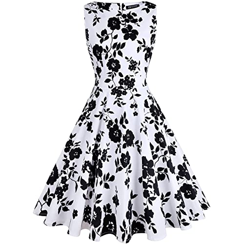 OWIN Women s Vintage 1950 s Floral Spring Garden Rockabilly Swing Prom Party  Cocktail Dress 69a929aff