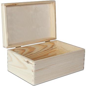 Creative Deco Grande Caja de Madera para Decorar con Tapa | 30 x 20 x 14 cm | Cofre Decoración Decoupage Almacenaje de Documentos Objetos de Valor Juguetes Herramientas: Amazon.es: Hogar