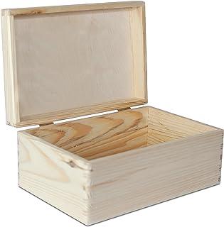 Creative Deco Grande Caja de Madera para Decorar con Tapa | 30 x 20 x 14 cm (+/-1cm) | Cofre Decoración Decoupage Almacena...