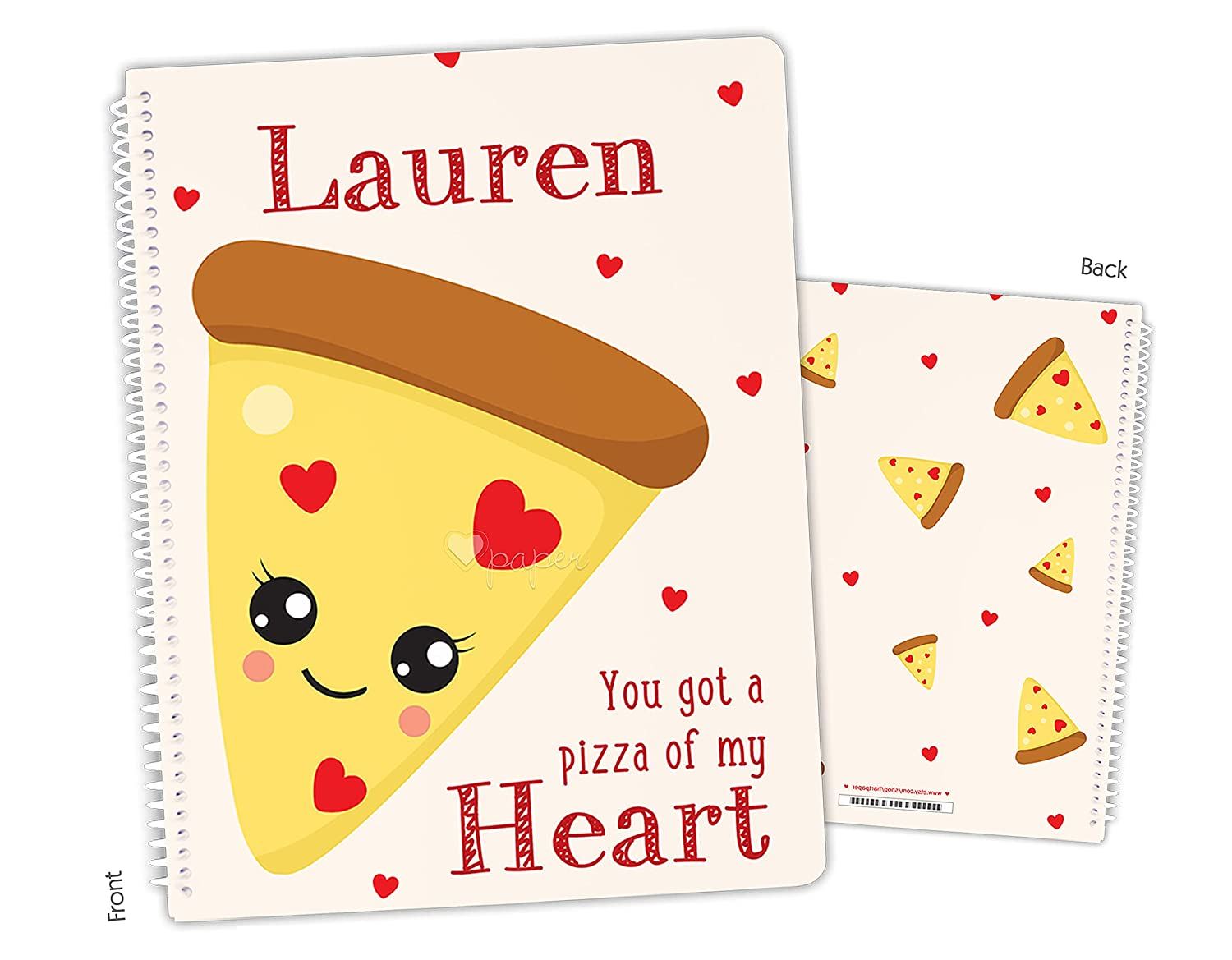 Personalized Pizza Spiral Sketchbook Regular discount New arrival Bound Notebook