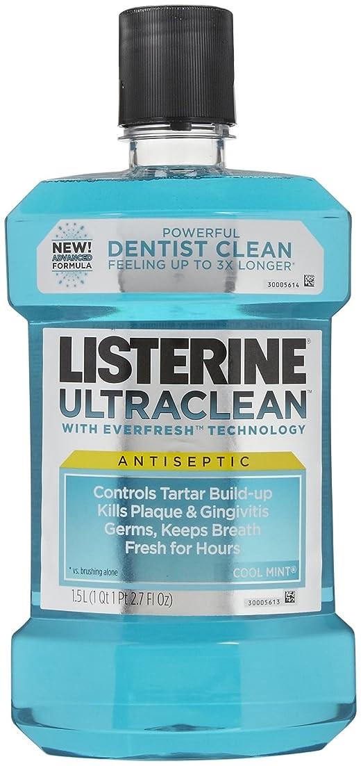 煙突科学者ラップListerine UltraClean Mouthwash, 1.5 Liters, Cool Mint, 50.72 oz, 2 pk by Listerine