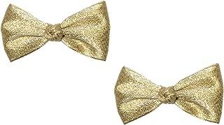 gold baby hair bows