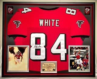 Premium Framed Roddy White Autographed Signed Atlanta Falcons Jersey JSA Coa