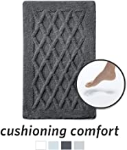 MICRODRY Luxury SoftTip, Charcoal Infused Memory Foam Bath Mat with GripTex Skid-Resistant Base, 21x34, Charcoal
