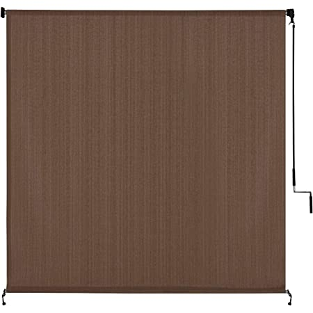 Patio Paradise Roll up Shades Roller Shade 6Wx6H Outdoor Shade Blind Pull Shade Privacy Screen Porch Deck Balcony Pergola Trellis Carport Brown