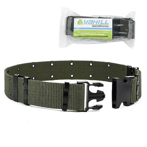 YAHILL® Cinturón Táctico Ajustable de Seguridad Cinturón Pesado de Rescate por Deporte & Caza al
