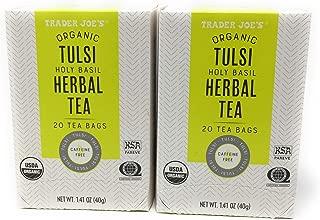 Trader Joe's Organic Tulci Holy Basil Herbal Tea - 20 Tea Bags - Caffeine Free - NET WT 1.41 OZ -2 PACKS