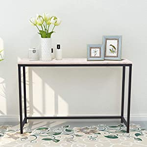 Console Sofa Tables End Table Computer Desk Coffee Snack Console Tables for Living Room Or Corridor Hallway Oak