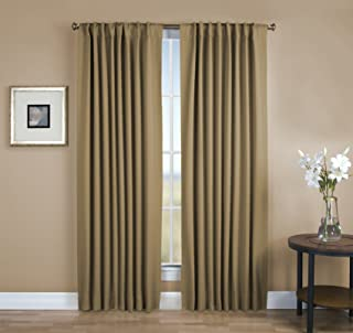 Ricardo The Home Threads Collection Ultimate Light-Blocking, Super Insulating Blackout Rod Pocket Curtain Panel with Back Tabs