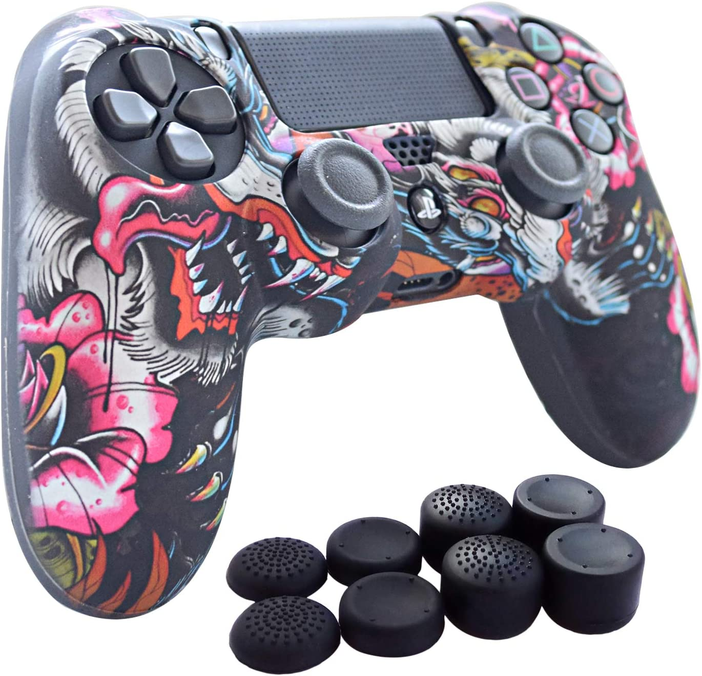 PS4 Controller Grip Max Regular dealer 72% OFF Hikfly Skin Silicone Cover Gel Ca
