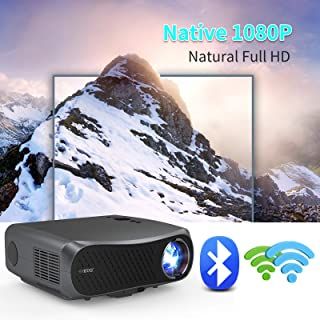 Native 1080P Projector with WiFi and Bluetooth, Support 4K Zoom Keystone Correction