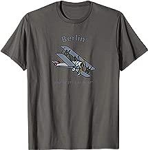 Berlin Coordinates Vintage Biplane Aviators T-Shirt