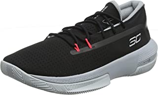 Unisex-Kid's Pre School SC 3ZER0 III Basketball Shoe, Black (001)/Mod Gray, 4