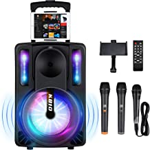 Karaoke Machine for Kids & Adults, SEAPHY DJ Lights 10'' Woofer BT Connectivity Rechargeable PA System-Audio Recording, Re...