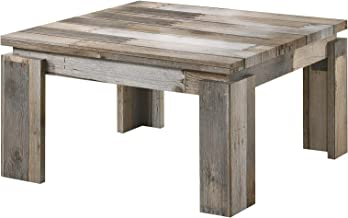 Jiwa Berani Nona Coffee Table, Grey - 80H x 80W x 45D cm