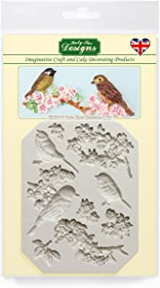 Katy Sue Designs Blossoms & Birds Silicone Mold for Cake Decorating, Cupcakes, Sugarcraft, Candies, Clay, Crafts and Card Making, Food Safe