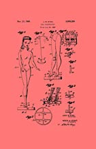 Framable Patent Art Original Ready to Frame Décor Barbie Doll Classic Retro Girls 11in by 17in Patent Art Poster Print Vintage Coral PAPSSP57CR