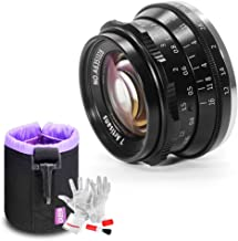 7artisans 35mm F1.2 Large Aperture Prime APS-C Aluminum Lens for Fuji X Mount Mirrorless Cameras X-A1 X-A10 X-A2 X-A3 X-at X-M1 X-M2 X-T1 X-T10 X-T2 X-T20 X-Pro1 X-Pro2 X-E1 X-E2 X-E2s (Black)