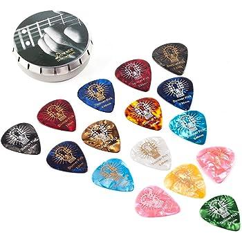10 piezas Basics de celuloide P/úas de guitarra de colores lisos