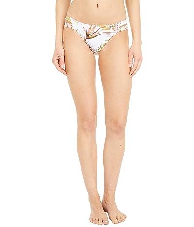 Roxy Printed Beach Classics Regular Bikini Bottoms (Bright White Herbier) Women