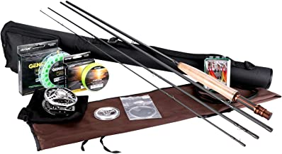 Goture Fly Fishing Full Kit with Rod Reel Line Lures with Hard Case(5/6 7/8)